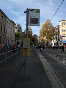 Haltestelle Rosental Bonn. Foto S. Merkt